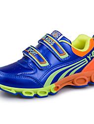 לבנים-נעלי ספורט-PU-נוחות-כחול אדום-יומיומי-עקב שטוח