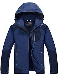טיולי טבע ז'קט עם שכבה חיצונית רכה לגברים עמיד למים / נושם / שמור על חום הגוף / עמיד / לביש סתיו / חורף טרילן שחור / הסוואהS / M / L / XL