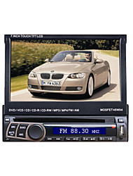 7 1DIN lcd touch screen digital panel bil dvd spiller support ipod.bluetooth.stereo radio.gps.touch skjerm