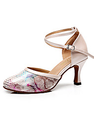 Sapatos de Dança(Preto / Azul / Branco) -Feminino-Personalizável-Latina