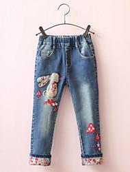Menina de Calças / Jeans,Casual Estampado Algodão Primavera / Outono Azul