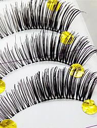 ריסים ריס ריסים מלאים עיניים עבה ריסים מורמים עבודת יד סיב Transparent Band 0.10mm 12mm