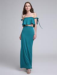 2017 Lanting bride® kotník-délka dres sexy družička šaty - off-the-rameno s lukem (y)