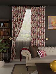פאנל אחד טיפול חלון מעצב , פרח חדר שינה פוליאסטר חוֹמֶר וילונות וילונות קישוט הבית For חַלוֹן