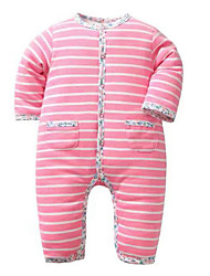 Baby Casual/Daily Striped Clothing Set-Cotton-Fall-Pink