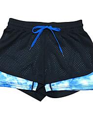 מכנסיים יוגה מכנסיים קצרים / תחתיות נושם / ייבוש מהיר / נוח / דחיסה נשמט גמישות גבוהה בגדי ספורט שחור לנשים ספורטיבייוגה / פילאטיס /