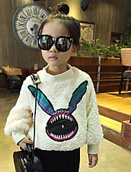 Girl's Casual/Daily Solid Hoodie & SweatshirtPolyester Winter / Spring / Fall White