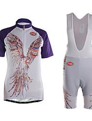 Esportivo Camisa com Shorts para Ciclismo Mulheres Manga Curta MotoSecagem Rápida / Vestível / Alta Respirabilidade (>15,001g) /