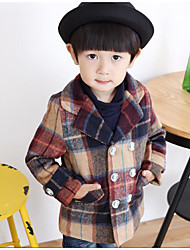 Boy's Casual/Daily Check Suit & BlazerCotton Winter / Fall Brown