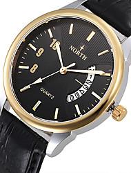 Relogio Masculino Original North New Brand Men Watch Leather Quartz Watches Men Military Watch Male Clock