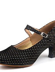 Sapatos de Dança(Preto / Fúcsia) -Feminino-Não Personalizável-Latina