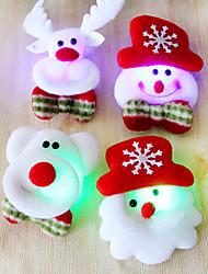 12st Weihnachten Santa Brosche Flash-Stoff leuchtende Weihnachtsdekoration Weihnachtsgeschenk (style random)