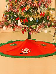 decoracion navidad Weihnachtsschmuck für zu Hause gerade Kante 90cm Vlies-Weihnachtsrock Schürzen Baum