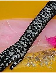 Até o Cotovelo Com Dedos Luva Renda Luvas de Noiva Luvas de Festa Primavera Verão Outono Inverno Renda