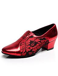 Sapatos de Dança(Preto / Vermelho / Cinza) -Feminino-Personalizável-Latina / Salsa