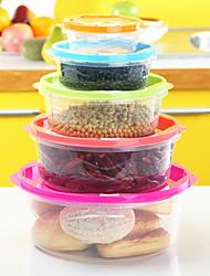 5pc הגנת הסביבה לשימור במקרר alimental של קופסת אחסון