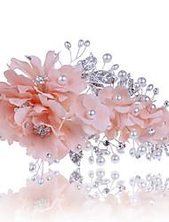 Vrouwen Tule Stof Helm-Bruiloft Speciale gelegenheden Informeel Haarclip 1 Stuk