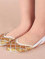 Sapatos de Dança(Prateado / Dourado) -Feminino-Não Personalizável-Balé