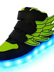 Tenisky-Kůže-Pohodlné Light Up boty-Chlapecké-Černá Modrá Růžová Červená Bílá Olivová-Outdoor Běžné Atletika-Nízký podpatek
