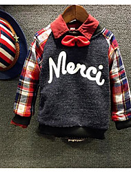 Boy's Casual/Daily Check Hoodie & SweatshirtCotton Winter / Spring / Fall Blue / Red