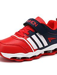 לבנים-נעלי ספורט-PU-נוחות-כחול / אדום-קז'ואל-עקב שטוח