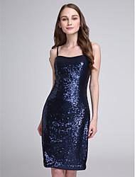 2017 Lanting bride® kolena flitry jiskra& lesk družička šaty - špagetová ramínka s flitry