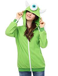 קיבל השראה מ קוספליי קוספליי אנימה תחפושות קוספליי קפוצ'ון Cosplay טלאים ירוק שרוולים ארוכים עליון