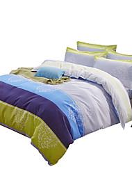 S proužky Povlečení 4 kusy Polyester Vzor Reaktivní barviva Polyester Twin / Full / Queen / King4 ks (1 x povlak na přikrývku, 1 x