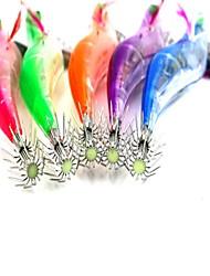 1 יח ' פיתיון קשה / פתיונות דיג חֲסִילוֹנִים צבעים אקראיים 21 g אונקיה mm אינץ ',פלסטיק קשיח הטלת פיתיון