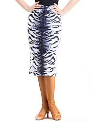 ריקוד לטיני חצאיות טוטו וחצאיות ביצועים ספנדקס דפוס / הדפסה חלק 1 טבעי חצאית M:69cm-70cm L:71cm-72cm XL:71cm-72cm