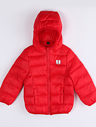 Unisex Casual/Daily Solid Down & Cotton Padded,Cotton Winter