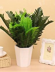 1 1 ענף משי צמחים פרחים לשולחן פרחים מלאכותיים 45CM