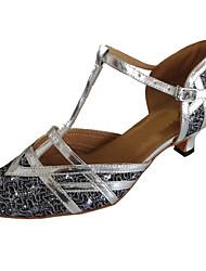 Sapatos de Dança(Prateado) -Feminino-Personalizável-Moderna