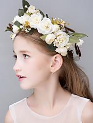 Vrouwen Polyester Schuim Vlas Hars Stof Helm-Bruiloft Speciale gelegenheden Informeel Kantoor & Cariere BuitenTiara's Hoofdbanden Bloemen