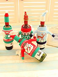 2db borosüveg borító készlet karácsonyi party mikulás sapka ruhát üveg karácsony ajándék piros új év lakberendezési