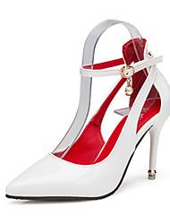 Podpatky-PU-Pohodlné-Dámské-Černá Růžová Červená Bílá-Běžné-Vysoký