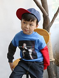 Boy's Casual/Daily Patchwork Hoodie & SweatshirtCotton Fall Blue / Red / Gray