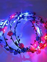 Light Up Led Flower Crown Chrysanthemum Emitting Headband Led Light Headwear Halloween Christmas Holiday Items