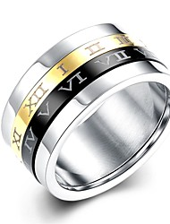 טבעות חתונה / Party / יומי / קזו'אל / ספורט תכשיטים פלדת על חלד / מצופה כסף / ציפוי זהב גברים טבעת / טבעת אירוסין 1set,7 / 8 / 10מוזהב /