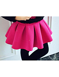 Girl Casual/Daily Solid Skirt-Cotton Winter