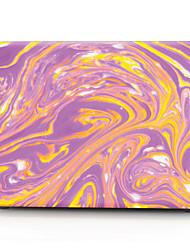 caixa do computador MacBook roxo e amarelo lindo padrão de pedra para macbook air11 / 13 pro13 / 15 pro com retina13 / 15 macbook12