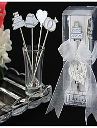 Creative Style Tableware Heart-Shaped Suit Wedding a Valentine's Day I Love Fashion Birthday Cake Fruit Fork To Sign