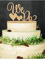 קישוטים לעוגה לא מותאם אישית זוג קלסי / לבבות אקרילי מסיבה לכלה / חתונה / יום שנה שחורנושאי גן / נושא אסיה / נושא פרחוני / נושא פרפר /