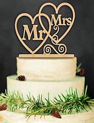 Madeira Decorações do casamento-1 peça Não Personalizado
