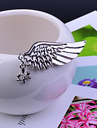 Men's Women's Brooches Fashion Vintage Wings / Feather Silver Bronze Golden Jewelry Halloween Daily Casual
