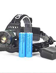 תאורה פנסי ראש / פנסי אופניים / אורות בטיחות LED 5000 Lumens 1 מצב Cree XM-L T6 18650 ראש הזווית / קל במיוחדמחנאות/צעידות/טיולי מערות /