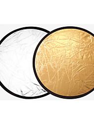 60 cm 2 in1 zlaté a stříbrné držadlo multi skládací přenosný disk světlo reflektor pro fotografování 2 in1 zlata a stříbra