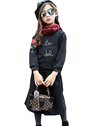 Girl Casual/Daily Solid Hoodie & Sweatshirt,Cotton Fall / Winter Long Sleeve Regular