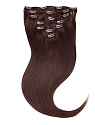 Neitsi 20'' 100g 7Pcs Clip in on Human Hair Extensions 100% Straight Remy Hair Full Head 2#