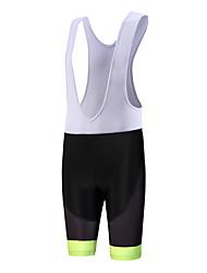 ספורטיבי מכנס קצר ביב לרכיבה לגברים נושם / ייבוש מהיר / עיצוב אנטומי / לביש / תומך זיעה אופניים מכנסיים קצרים עם כתפיות פוליאסטר / LYCRA®